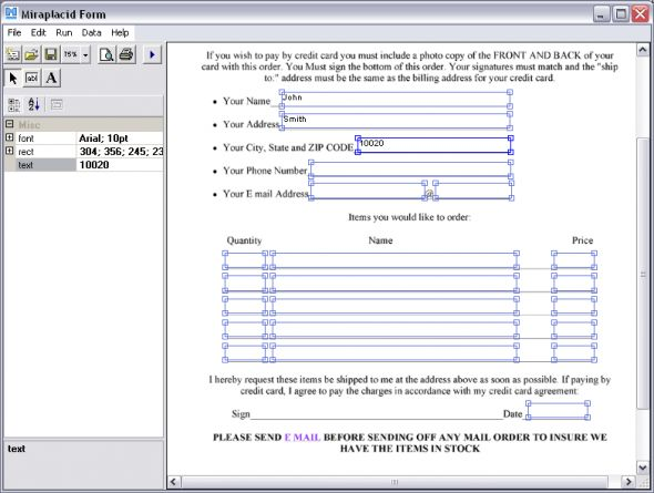 Miraplacid Form Lite Screenshot