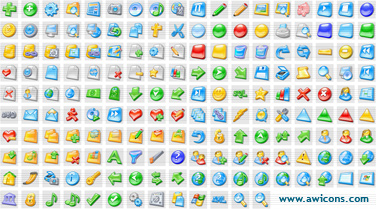 3D Aqua Icons Collection Screenshot