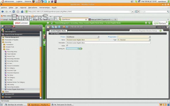 Openbravo Screenshot