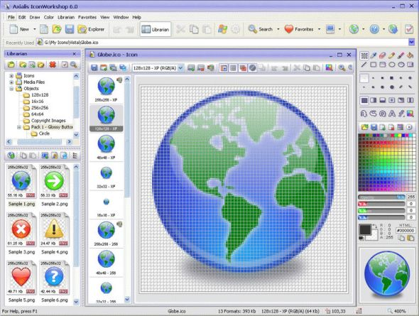 Axialis IconWorkshop Screenshot