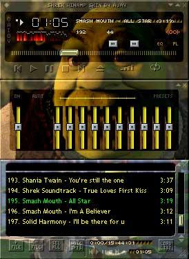 Shrek by Ajay Winamp Skin Screenshot
