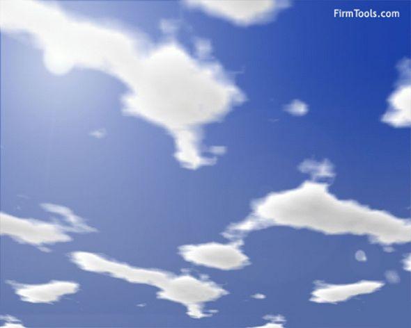 Clouds Screensaver Screenshot