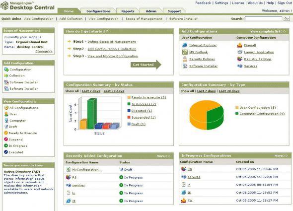 ManageEngine Desktop Central Screenshot