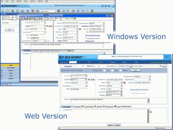 Help Desk Authority (Formerly BridgeTrack) Screenshot