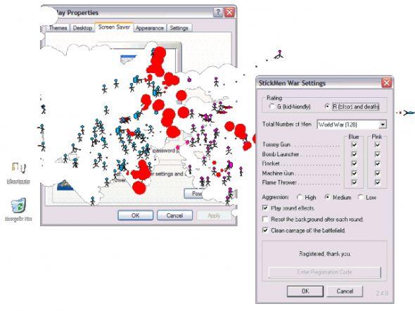StickMen Screen Saver Screenshot