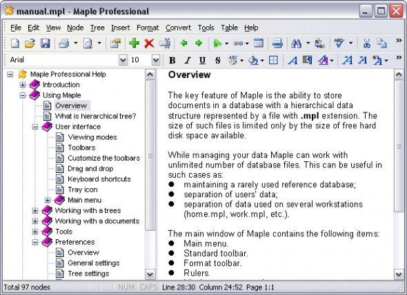 Maple Professional Screenshot