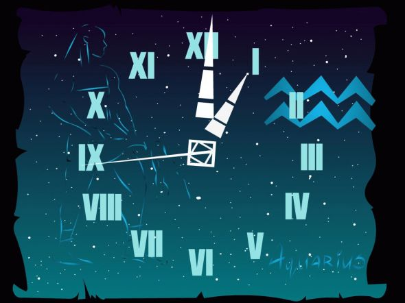 7art Aquarius Clock ScreenSaver Screenshot