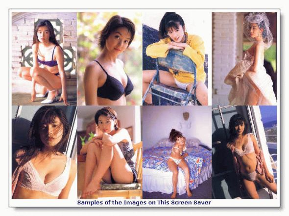 Asian Beauties 1 Screen Saver Screenshot